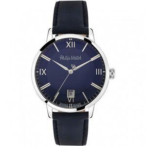 【送料無料】philip watch orologio uomo collezione grand archive 1940 39mm blue r8251598007