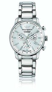 【送料無料】フィリップウォッチケントクロノグラフスチールphilip watch kent cronografo acciaio e argento r8273678005 acciaio data