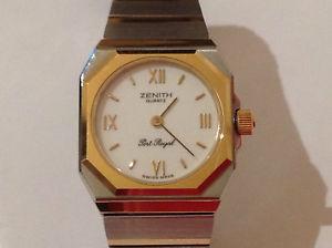 【送料無料】ヴィンテージポートロイヤルゴールドスチールvintage orologio zenith quartz port royal acciaio oro ledy anni 80