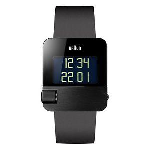 【送料無料】デジタルゴムbraun bn0106bkbkg orologio da polso digitale, gomma, nero u8h