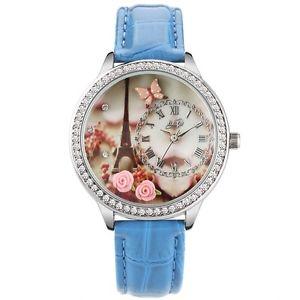 クロックorologio didofa df1216d 3d strass pelle alla moda nuovo orologio 3d donna