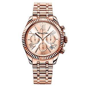 トーマスクロノスチールthomas sabo watches, orologio da donna divine chrono, acciaio g2i