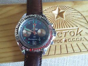 【送料無料】ヴォストーククロノグラフオリジナルストラップvostok boctok komandirskie chronograph poljot 3133 original box and strap
