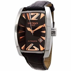 ダチョウリストパノラマクラシックlocman panorama orologio classico uomo automatico in pelle di struzzo lista 750