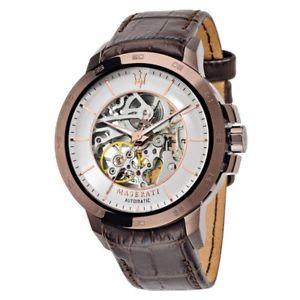 【送料無料】クロックマセラティマセラティブラウンレザーorologio maserati ingegno r8821119003 automatic brown leather