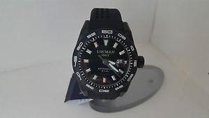 【送料無料】ウォッチステルスブラックシリコンチタンメートルウォッチorologio locman stealth 215 nero acciaio silicone fondo titanio 300 metri watch