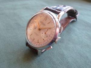 ウォッチステンレススチールクロノグラフクラウンnicolet watch, cronografo in acciao inox di mm 37,0 senza corona