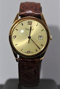 【送料無料】クロックマンフィリップウォッチスイスktバッテリorologio uomo philip watch swiss oro 18 kt 750 quarzo batteria funzionante usato
