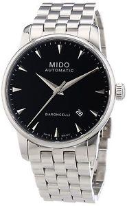 ミドクロックmido baroncelli ii 38mm m86004181 orologio da uomo b0y