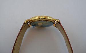 ktゴールドミッドサイズzenith orologio oro 18 kt mid size  datario donna  gold wrist watch