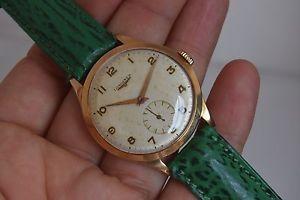 【送料無料】メンズヴィンテージソリッドゴールドクロックlongines 27m mens vintage watch 18k solid gold uhr montre orologio 35mm