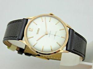 【送料無料】ピンクゴールドサミットvetta in oro rosa 18 kt carica manuale orologio uomo 34 mm anni 60 revisionato