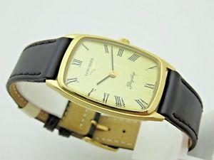 【送料無料】ゴールドクロックマニュアルlongines flagship in oro 18 kt 750 orologio uomo anni 70 carica manuale