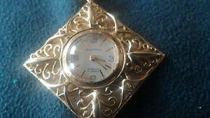 クロックペンダントブランパンチェーンゴールドorologio ciondolo blancpain con catena oro 14 kt 1950 circa