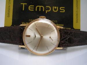 【送料無料】ゴールドマニュアルクロックマニュアルlongines oro 18kt anno 1968 manuale cal 302 ref 7515 revisionato orologio uomo