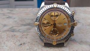【送料無料】ブライトリングスチールゴールドbreitling chronomat b130501 acciaiooro