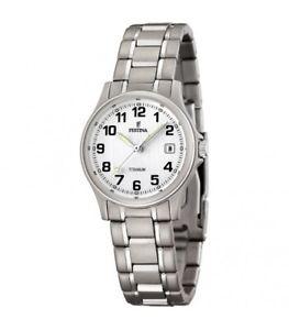 【送料無料】チタンクラシックfestina titanium orologio donna classic f164591 originale nuovo