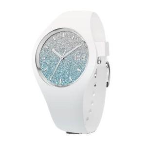 【送料無料】icewatch ice lo white blue medium 3h ic013429