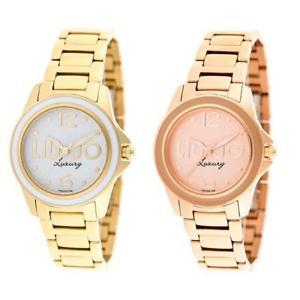 【送料無料】リュジョラグジュアリージャンボスチールブレスレットゴールドコレクションorologio donna liu jo luxury jambo bracciale acciaio gold ros collection