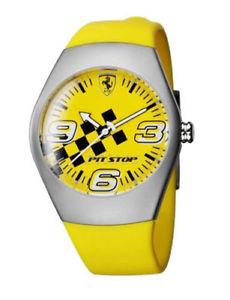 【送料無料】クロックマンスクーデリアフェラーリピットストップゴムorologio uomo scuderia ferrari pit stop 12725 giallo acciaio gomma watch yellow