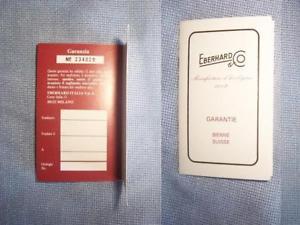 【送料無料】オリジナルgaranzia warranty eberhard originale