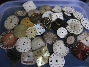 【送料無料】クロックアートクラフトスペアバッチnuova inserzionevecchio vintage orologio quadranti steampunk arte o mestiere di ricambio ecc lotto 2