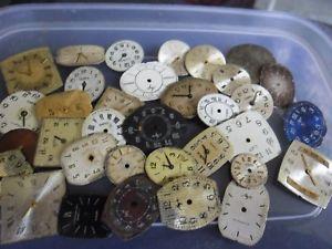 【送料無料】クロックアートクラフトスペアバッチnuova inserzionevecchio vintage orologio quadranti steampunk arte o mestiere di ricambio ecc lotto 7