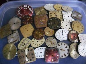 【送料無料】クロックアートクラフトスペアバッチnuova inserzionevecchio vintage orologio quadranti steampunk arte o mestiere di ricambio ecc lotto 1