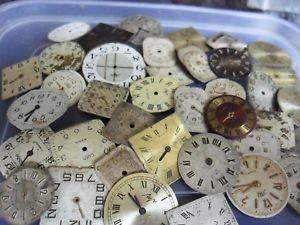 【送料無料】クロックアートクラフトスペアバッチnuova inserzionevecchio vintage orologio quadranti steampunk arte o mestiere di ricambio ecc lotto 4