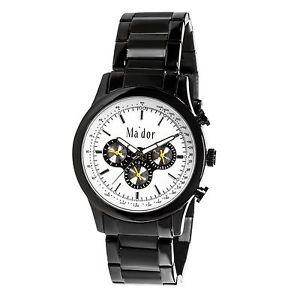 【送料無料】クロックマンmador mam551 orologio al quarzo uomo con display giorno e data i9h