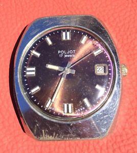 【送料無料】ロシアヴィンテージソビエトpoljot russo vintage orologio da polso uomo urss