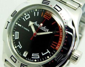 【送料無料】ヴォストークダイバー#ベストセラーvostok auto amphibian diver wrist watch 100474 boxed uk seller