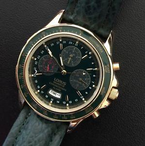 【送料無料】クロノグラフアラームクロノヴィンテージnos lorus chronograph alarm chrono vintage watch reloj nuevo 39mm