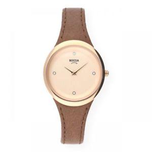【送料無料】スキンチタンピンクboccia orologio in pelle 327604 titanio oro rosa placcati