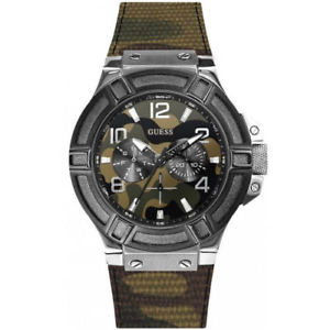 【送料無料】カムフラージュwatch guess uomo rigor multifunz camouflage w0407g1  list 199