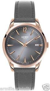 【送料無料】クロックヘンリーロンドンスキンピンクゴールドゴールドorologio henry london finchley hl39s0120 pelle girigio oro rosa gold ros data