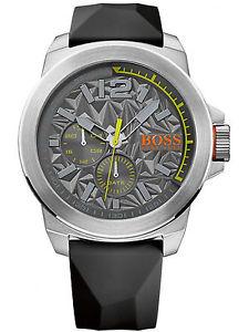【送料無料】hugo boss orange 1513347 york acciaio inox uomo nero orologio da polso