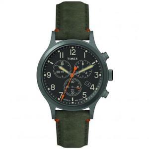 【送料無料】クロッククロノグラフorologio timex allied cronografo pelle verde tw2r60200