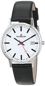 【送料無料】レザーカラーブラックdugena 4460400 orologio da polso donna, pelle, colore nero c2f