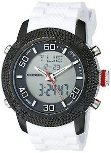 【送料無料】ケフェウスシリコーンcepheus cp903626 orologio da polso uomo, silicone, colore bianco s5g