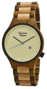 【送料無料】クロックグリーンメープルウッドサンダルウォッチorologio green time minimal uomo watch zw062b wood legno acero sandalo