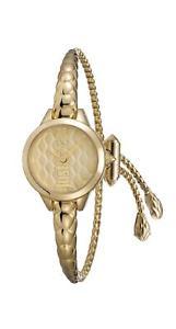 【送料無料】キャバリクロックアナログブレスレットjust cavalli orologio donna analogico placcato oro cinturino oro jc1l034m0035
