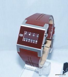 【送料無料】バイナリケララブラウンウォッチorologio the one binary watch kerala trance brown nuovo