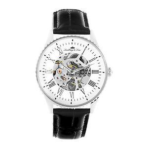 【送料無料】リンドバーグクロックlindberg amp;amp; sons chp150 orologio da uomo scheletrico automatico p5q