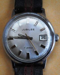 【送料無料】jubilee watch anni 60 carica manuale p75 17 jewels datario affarone raro vintage