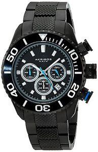 【送料無料】akribos ak512bk orologio da polso da uomo r8s