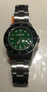 【送料無料】スチールクロックベゼルグリーングリーンクワッドmacteam orologio acciaio 39 mm lunetta verde quad verde 7963bv
