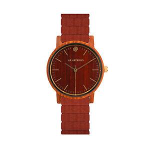【送料無料】サンダルスイスab aeterno soul 100 legno naturale sandalo rosso quarzo swiss uomo orologio