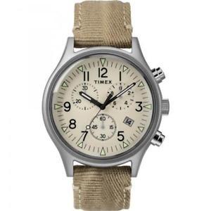 【送料無料】クロノグラフレザーストラップカーキorologio timex uomo mk1 cronografo cinturino in pelle khaki tw2r68500