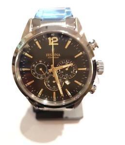 【送料無料】クロノグラフorologio cronografo uomo ragazzo acciaio f203434 festina prezzo 129,00